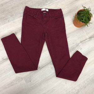 🔥 5/$25 *** Burgundy Skinny Jeans